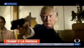 Donald Trump condena videoparodia contra la prensa y oponentes
