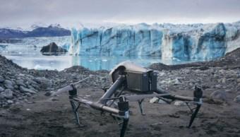 Foto: Los drones ayudan a la investigación sobre el deshielo de glaciares, 25 de octubre de 2019 (Universidad de Dundee)