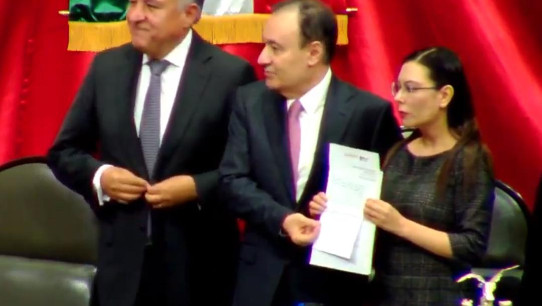 FOTO Alfonso Durazo entrega informe de Culiacán a diputados, destaca acciones con prudencia (YouTube)