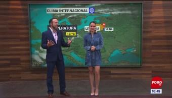 El #ClimaenExpreso internacional del 23 de octubre del 2019