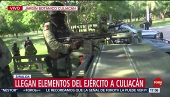 FOTO: Elementos de las Fuerzas Especiales patrullan calles de Culiacán, 19 octubre 2019