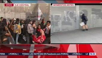 FOTO: Encapuchados Rompen Cinturón Paz Realizan Pintas Marcha 2 Octubre,