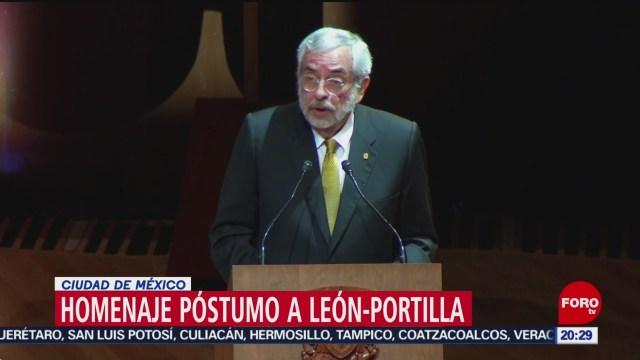 Foto: Enrique Graue Encabeza Homenaje Póstumo León-Portilla Unam 8 Octubre 2019