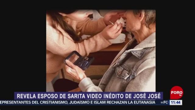 Esposo de Sarita revela video inédito de José José