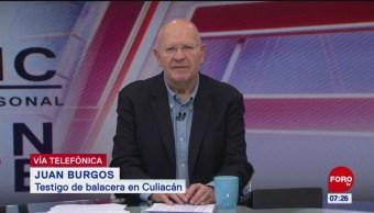 Estuvimos cuatro horas resguardados durante balaceras en Culiacán, dice testigo