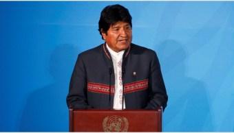 Imagen: Evo Morales realizó fuertes señalamientos contra la oposición, 12 de octubre de 2019 (AP)