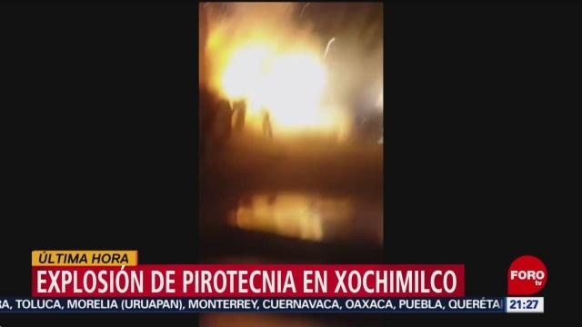 Foto: Video Explosión Pirotecnia Heridos Xochimilco CDMX Hoy 31 Octubre 2019