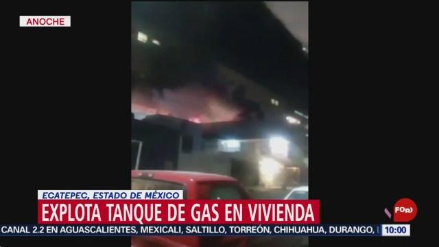 FOTO: Explota tanque de gas LP en una vivienda en Ciudad Azteca, 20 octubre 2019