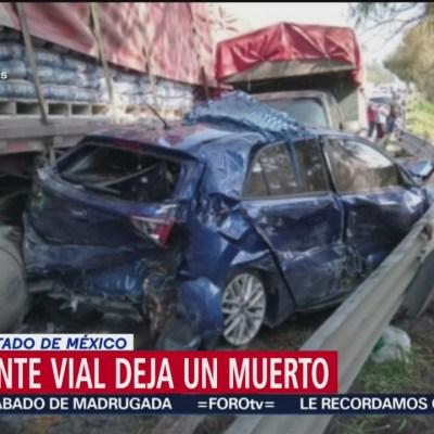 Fallece una persona tras accidente en la autopista Atlacomulco-Toluca