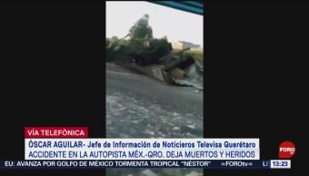 FOTO: Fallecen al menos 7 personas tras accidente en la México-Querétaro, 19 octubre 2019