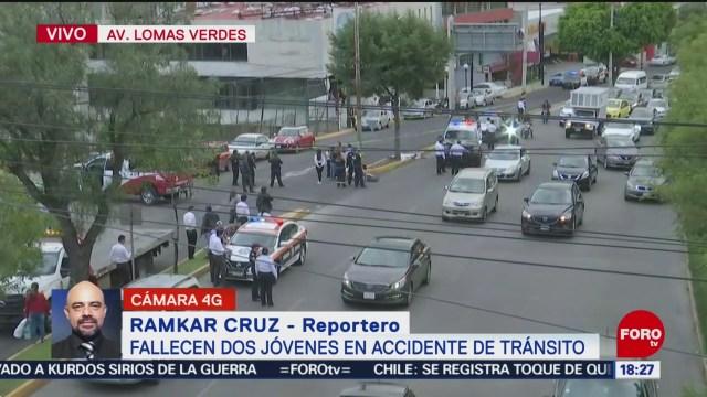 FOTO: Fallecen dos jóvenes accidente tránsito Lomas Verdes