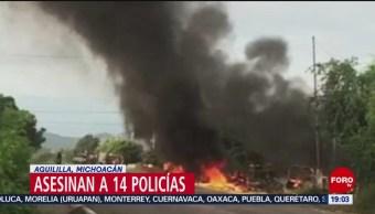 Foto: Video Audios Inéditos Emboscada Michoacán Hoy 14 Octubre 2019