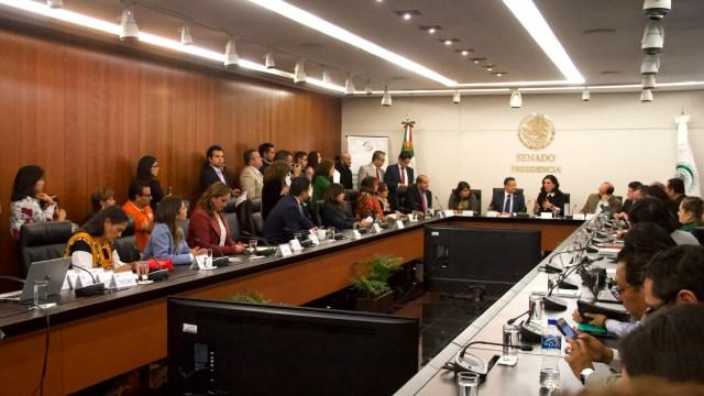 Foto: Sesión de la comisión de Derechos Humanos del Senado. Cuartoscuro