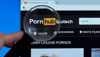Foto: Página de inicio del sitio Pornhub. Getty Images/Archivo