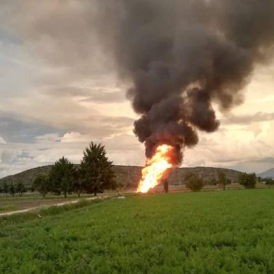 Pemex mantiene labores para controlar fuga de gas en Tepeaca, Puebla