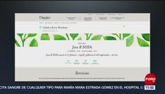 Funeraria publica obituario de José R. Sosa en Miami