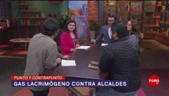 Foto: Gas Lacrimógeno Alcaldes Palacio Nacional 23 Octubre 2019