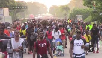 Foto: Guardia Nacional Frena Caravana Migrante Tapachula Chiapas 14 Octubre 2019