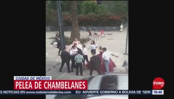 Foto: Guerra Chambelanes Monumento Revolución CDMX 23 Octubre 2019