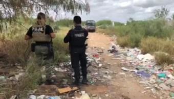 Foto: El titular de la dependencia, Jorge Ernesto Macías Espinosa, informó que, en dicho lugar, en el canal Guillermo Rodhe, se encontraron huesos de pies humanos, 23 de octubre de 2019 (Twitter @VALORPORTAMPS)