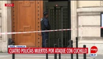 Hombre armado hiere a cuatro policías en París