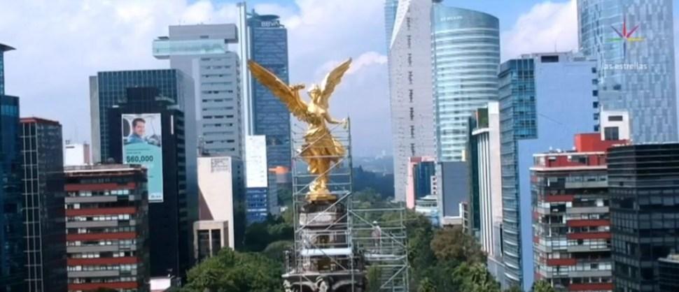 Foto Exclusiva Restauración del Ángel de la Independencia CDMX