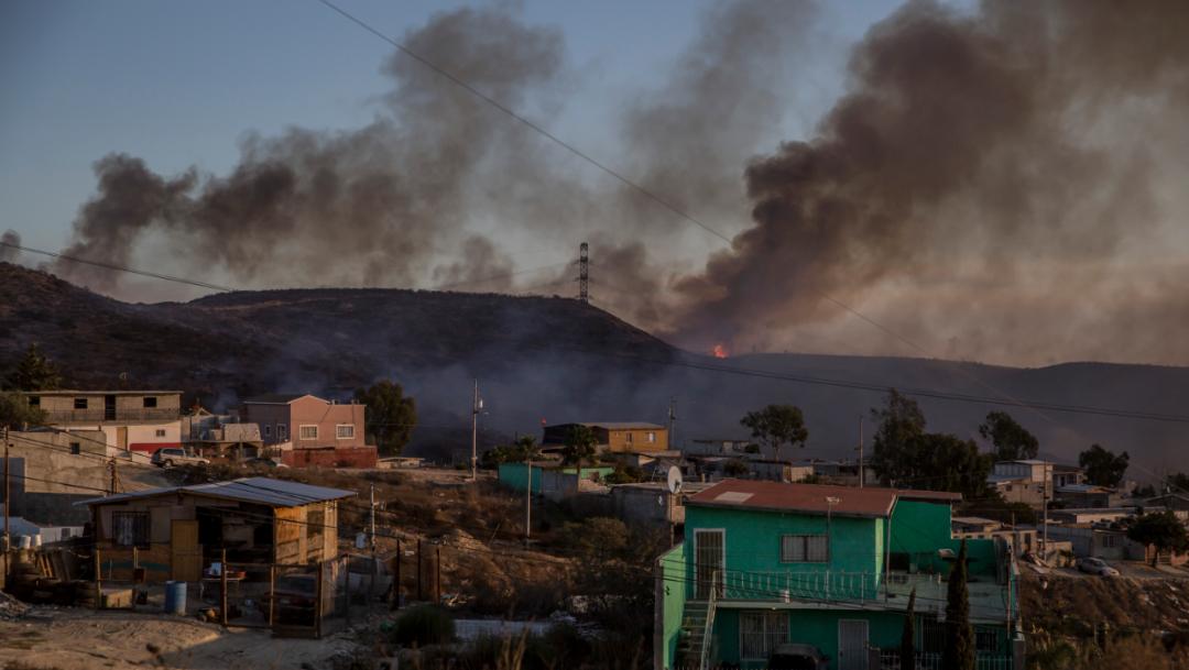 Foto: Incendios en Baja California, 26 octubre 2019