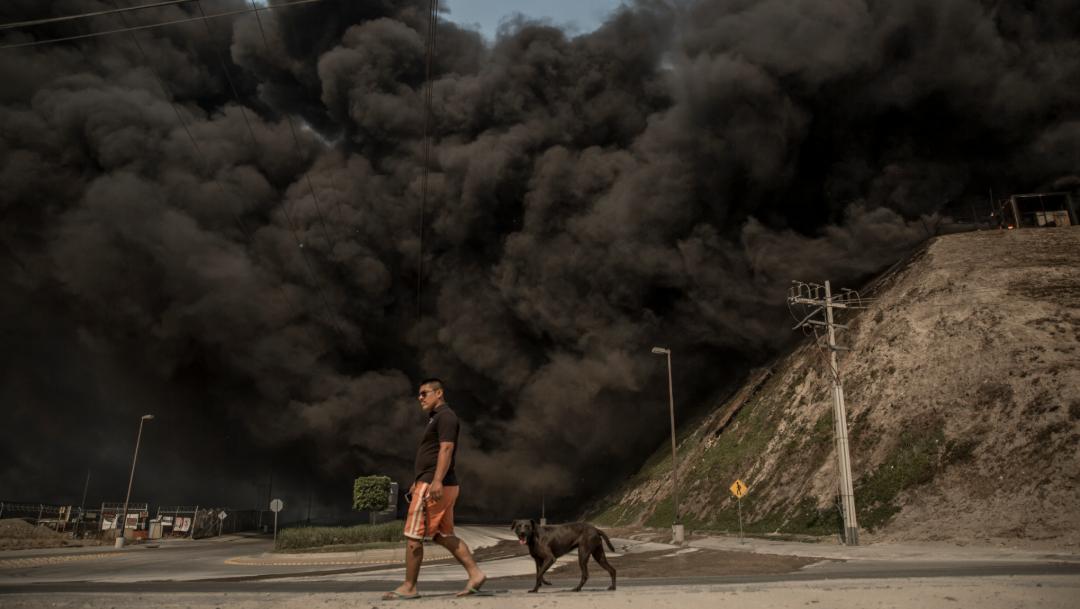 Foto: Los fuegos se habrían propagado desde California, Estados Unidos, 25 de octubre de 2019 (OMAR MARTÍNEZ /CUARTOSCURO.COM)