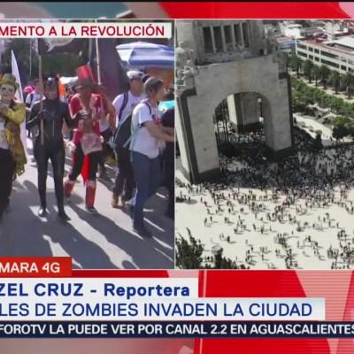 Inicia Marcha Zombie en Paseo de la Reforma