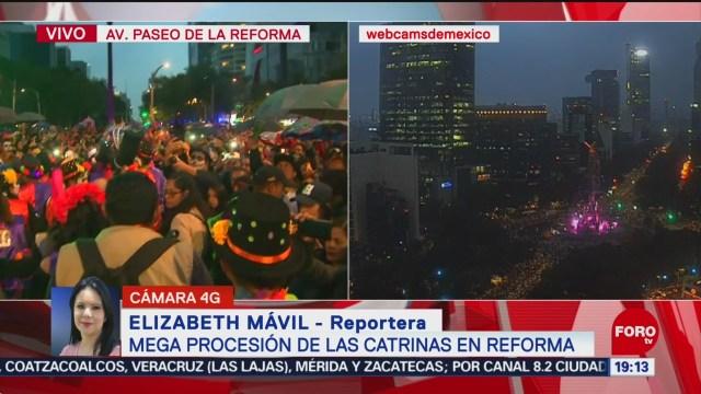 FOTO: Inicia Mega Procesión de Catrinas en la Ciudad de México, 26 octubre 2019