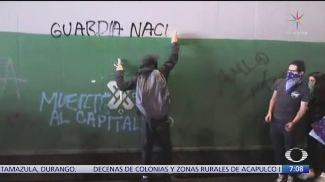 Investigan hechos vandálicos durante marcha del 2 de octubre