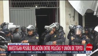 Foto: Relación Policías Unión Tepito Operativo CDMX 23 Octubre 2019