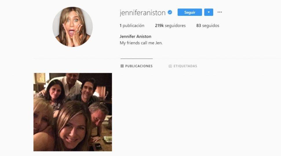 Foto Jennifer Aniston estrenar cuenta en Instagram