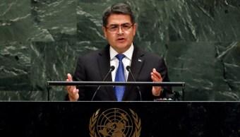 Foto: Juan Orlando Hernández, 25 de septiembre de 2019, Naciones Unidas