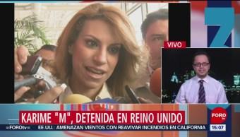 FOTO: Karime Macías pudo haber pagado fianza 150 mil libras