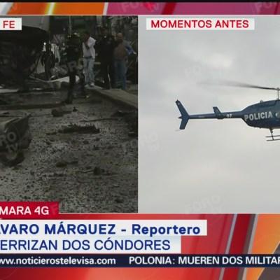 Helicópteros cóndores llegan a Santa Fe tras accidente automovilístico