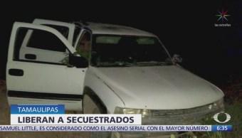 Liberan a 5 personas secuestradas en Tamaulipas