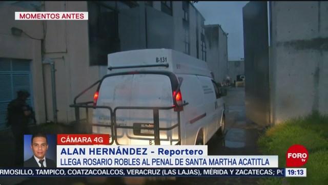 Foto: Rosario Robles Penal Santa Martha Acatitla 22 Octubre 2019