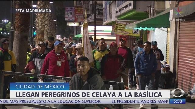 Llegan peregrinos de Celaya a la Basílica de Guadalupe