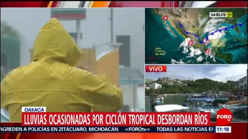 Lluvias desbordan ríos por paso de ciclón tropical en Oaxaca