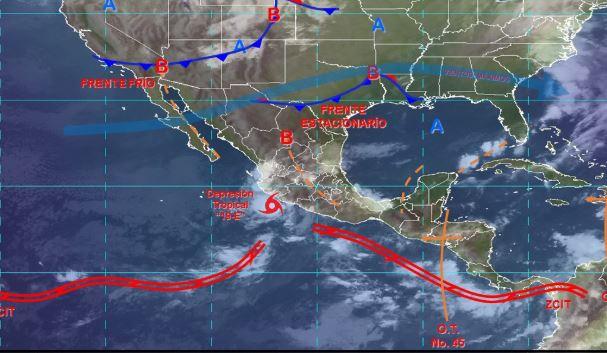 Foto: Imagen de fenómenos meteorológicos significativos de las 06:00 horas , 20 octubre 2019
