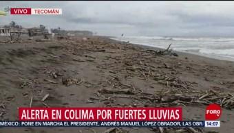 FOTO: Mantienen Alerta Por Fuertes Lluvias Colima