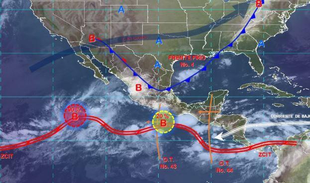 Foto: Imagen de fenómenos meteorológicos significativos de las 06:00 horas, 12 octubre 2019