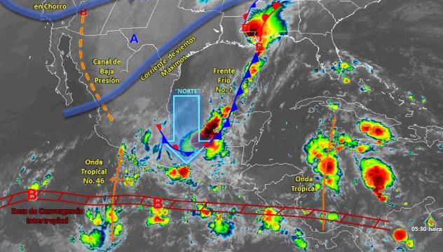Foto: Imagen de fenómenos meteorológicos significativos de las 06:00 horas, 26 octubre 2019