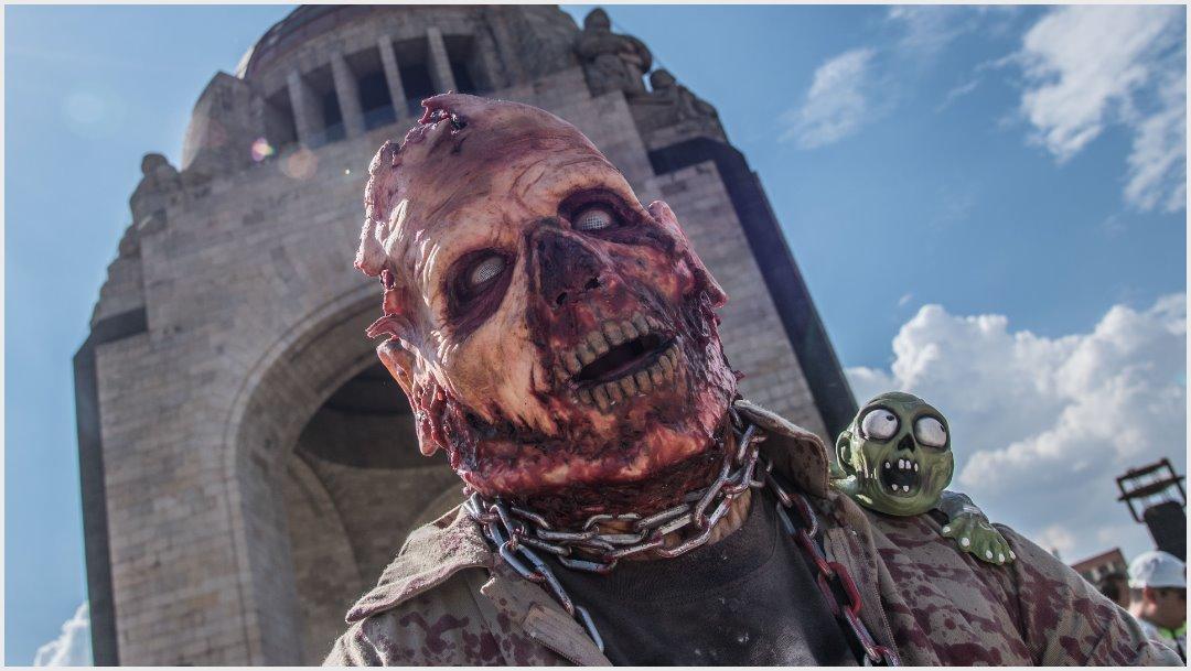 Foto: Zombies invadieron por horas la Ciudad de México, 19 de octubre de 2019 (MARIO JASSO /CUARTOSCURO.COM)