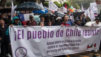 Imagen: Integrantes de la Coordinadora Nacional de Usuarios en Resistencia, realizarán una Asamblea, en solidaridad con el pueblo chileno, 28 de octubre de 2019 (Andrea Murcia /Cuartoscuro.com)