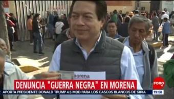 Foto: Mario Delgado Denuncia Guerra Negra Morena 22 Octubre 2019