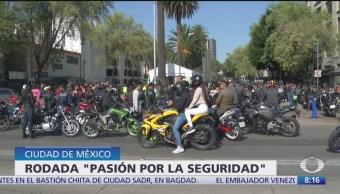 Más de mil motociclistas participaron en rodada 'Pasión por la seguridad'