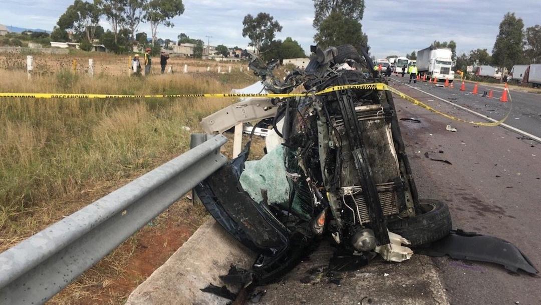 Foto: Se registra accidente en la carretera México-Querétaro, 19 octubre 2019