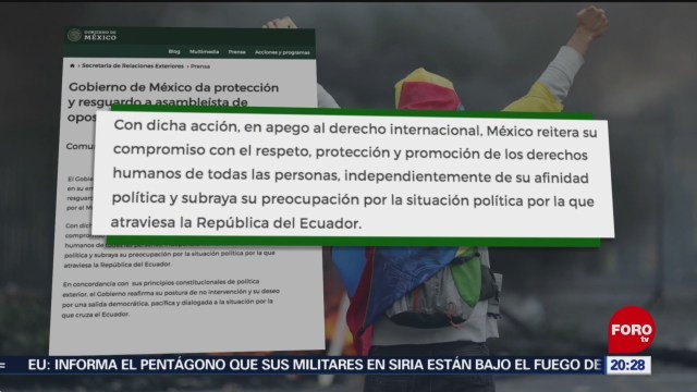 FOTO: México recibe en Embajada a asambleísta ecuatoriana, 12 octubre 2019